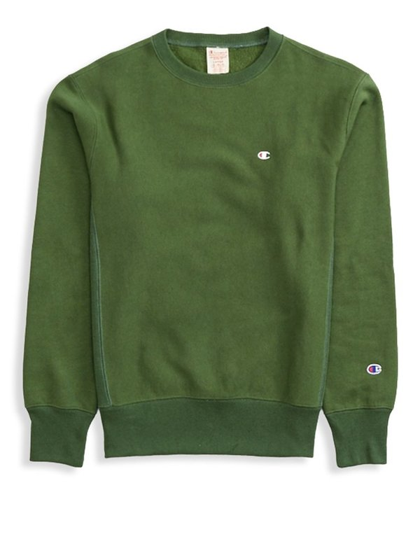 Champion Premium Reverse Weave Crewneck Sweatshirt , Deep Pine Green on  Garmentory