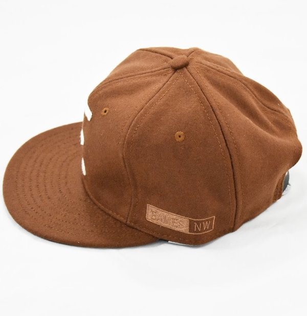 Ebbets Field Flannels x Eames NW 6 Panel Cap - Brown