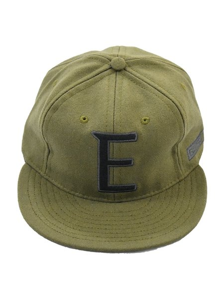 Ebbets Field Flannels x Eames NW 6 Panel Cap - Olive