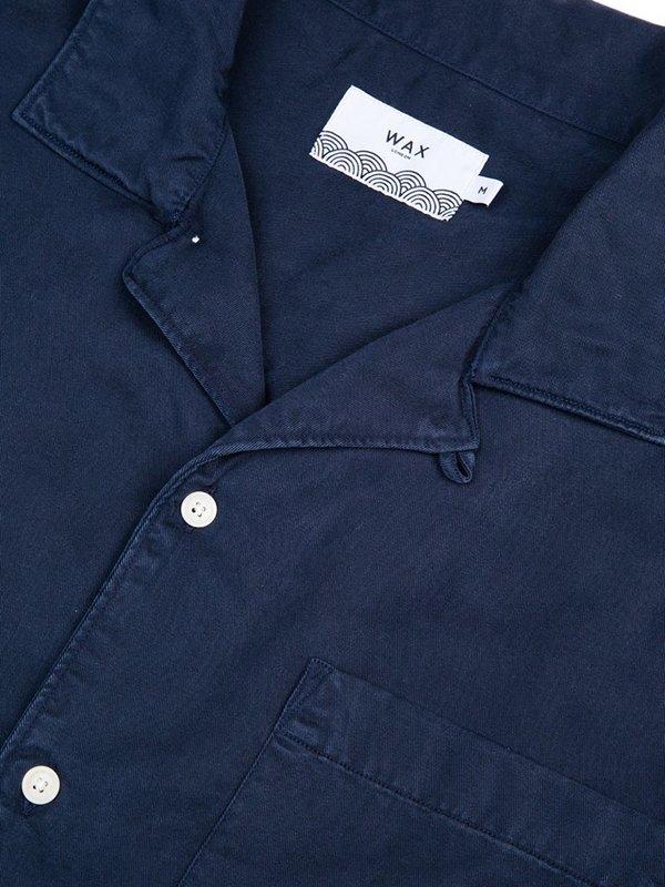 Wax London Fazely Short Sleeve Shirt - Navy