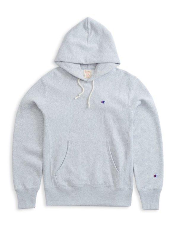 Champion Premium Reverse Weave Hooded Sweatshirt - Grey