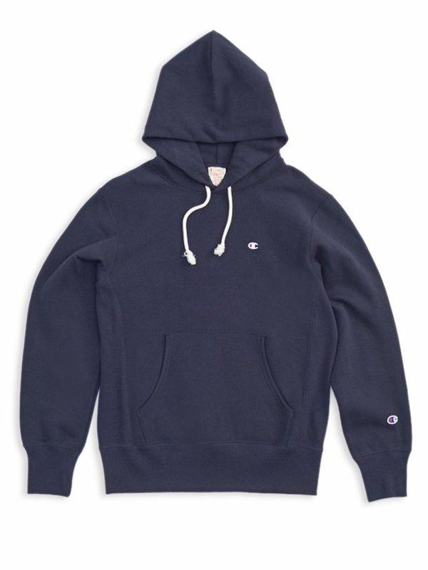 choose best running shoes 2019 factory price Champion Premium Reverse Weave Hooded Sweatshirt - Navy on Garmentory