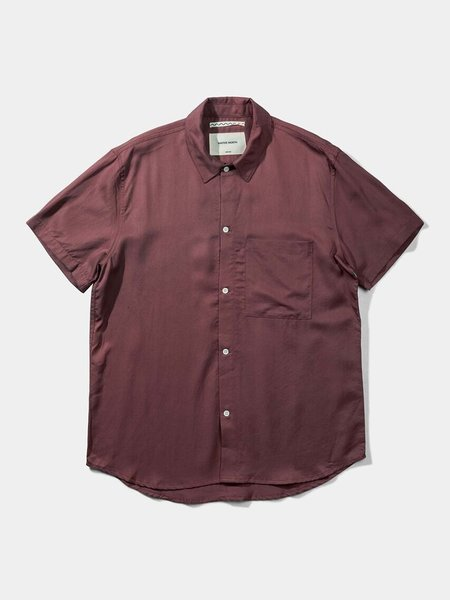 Native North Japanese Tencel Shirt - Burnt Red