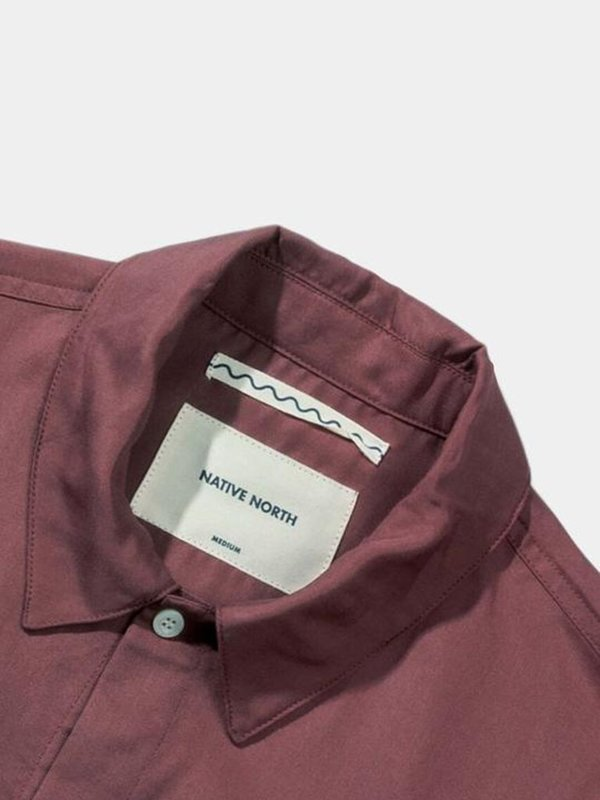 Native North Japanese Tencel Shirt - Burnt Red