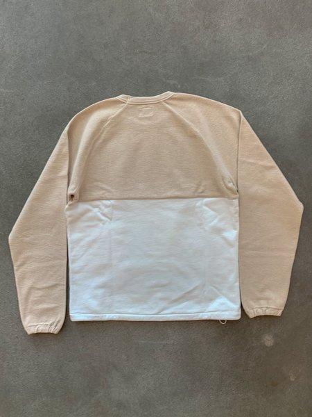 Les Basics Le Ribless Sweat Color Blocked - Stone/White