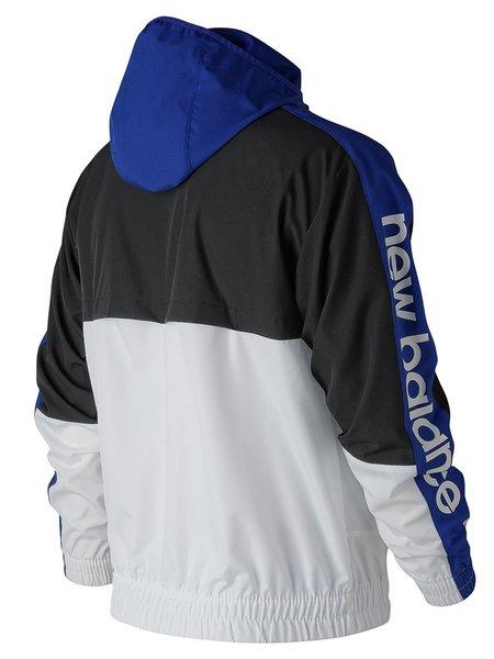 New Balance Team Royal Windbreaker - Black/White