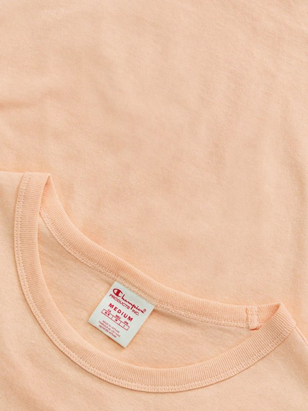Champion Premium Reverse Weave Seersucker Script Logo Crew Neck T-Shirt - Red Clay