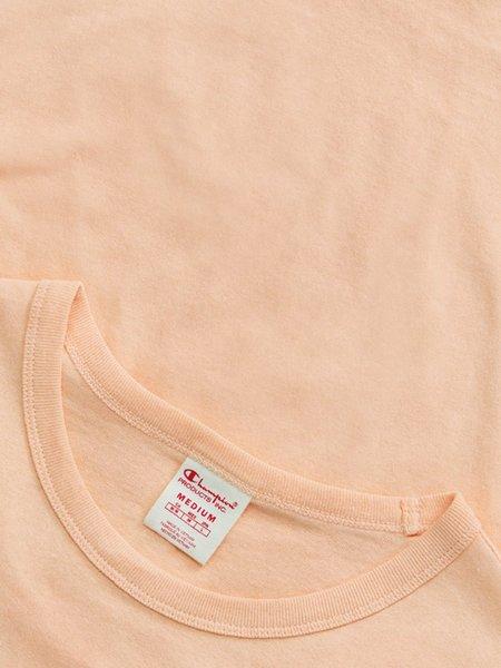 Champion Premium Reverse Weave Seersucker Script Logo Crew Neck T-Shirt - Red Clay