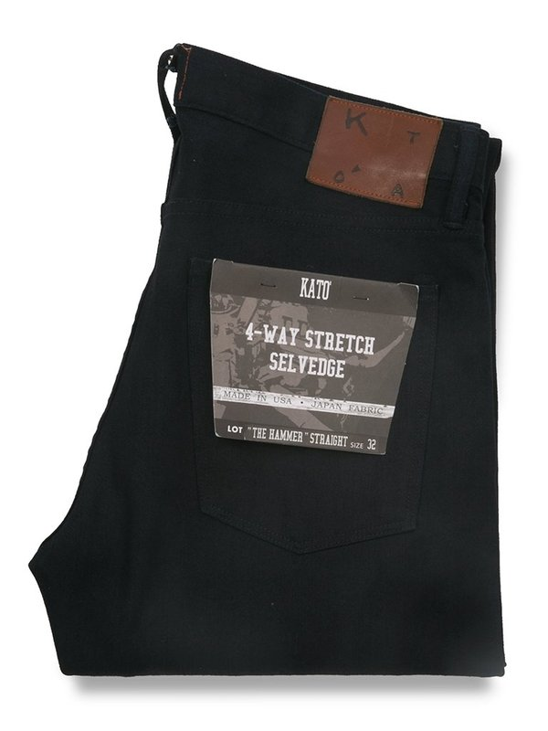KATO The Hamer Straight Night Selvedge Jeans