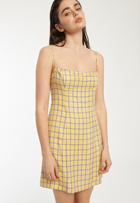 Capulet Amber Mini Dress - Yellow Plaid