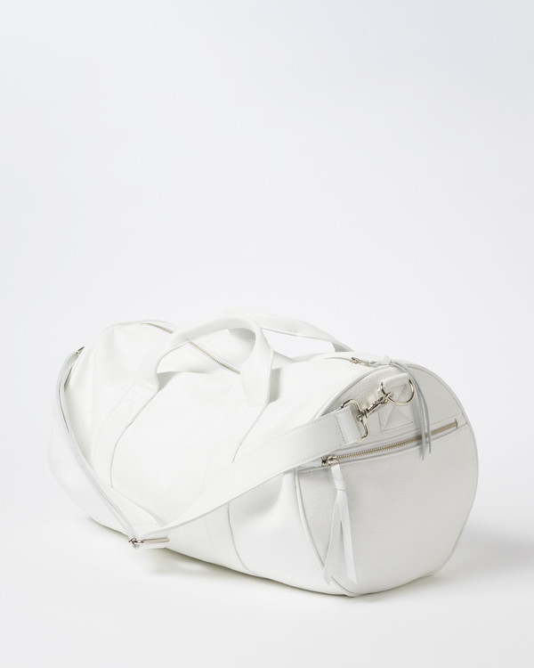 Clyde Duffel Bag in White Leather. sold out. Clyde 9b7284cfd00ec