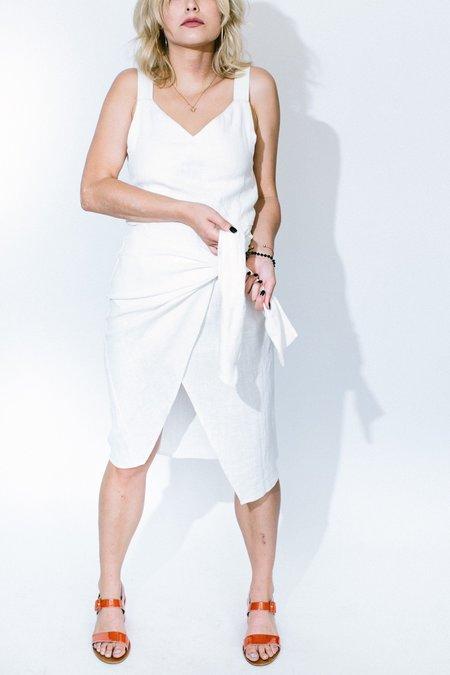 Oskar Outrun Future Dress - Ivory
