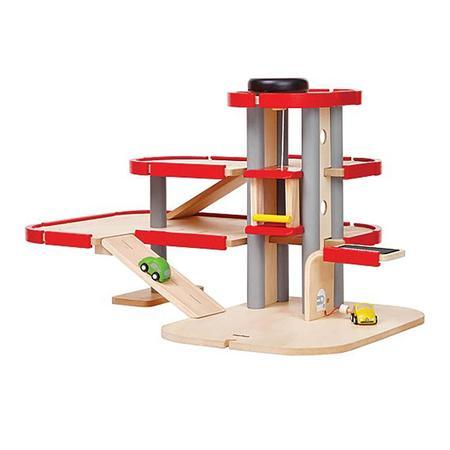 Kids Plan Toys Wooden City Parking Garage Set