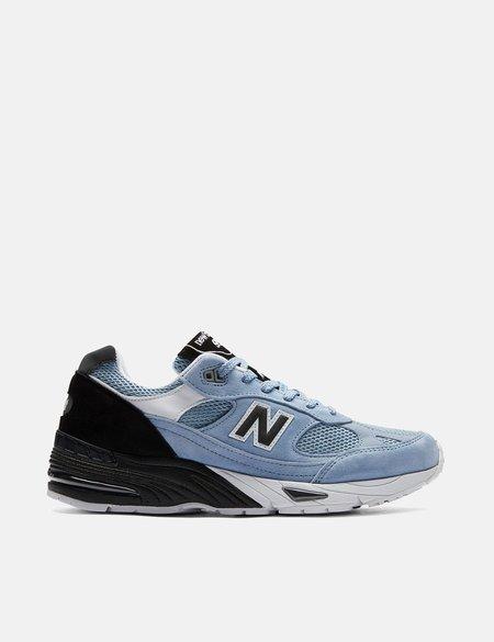 New Balance 991 (M991SVB) Trainers - Pastel Blue/Black/White