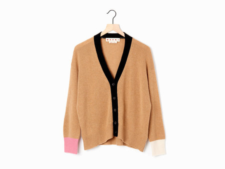 Marni Color Block Cardigan - biscuit