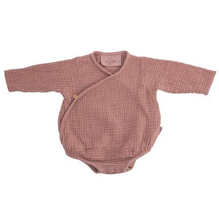 KIDS Moumout Paris Flora Muslin Bodysuit - Terracotta Brown