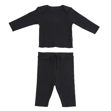 Kids Moumout Paris Long Sleeved T-shirt And Leggings Two Piece Set Twins - Ink Black