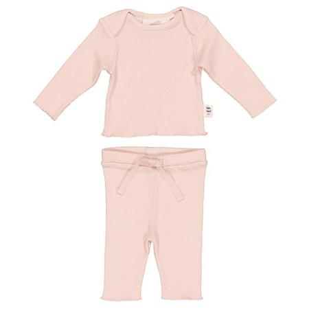 Kids Moumout Paris Baby Long Sleeved T-shirt And Leggings Two Piece Set - Pink