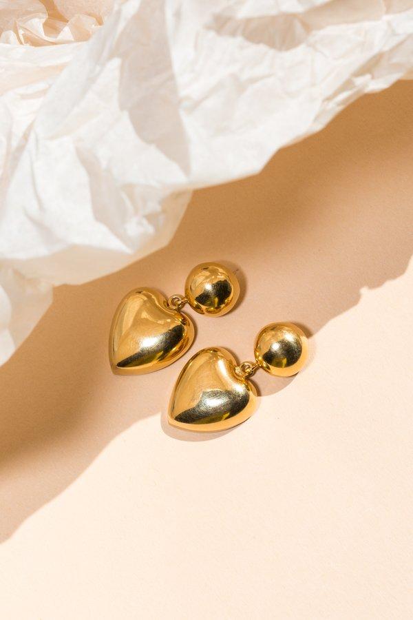 ARO Heart Drop Earrings