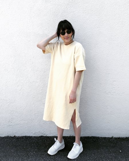 Can Pep Rey Short Sleeve Japanese Cotton Sweater Dress - Melon