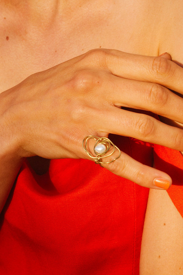Eyde The Noa Ring - 14K gold/pearl
