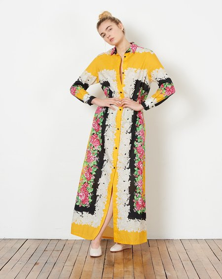 Rachel Comey Lumley Dress - Yellow Foulard