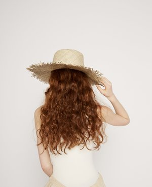 Brookes Boswell Fringe Straw Hat - Natural