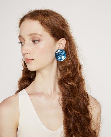 Julie Thévenot Small Reflection Earrings - Electric Blue