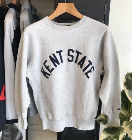 Vintage Champion Reverse Weave Kent State Sweatshirt - Grey