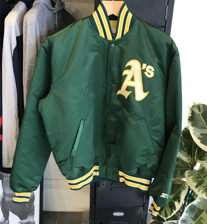 separation shoes 05abb cbcad Vintage Satin Starter Oakland Athletics Jacket - Green