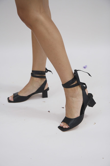 Miista Tonia Leather Sandals - Black