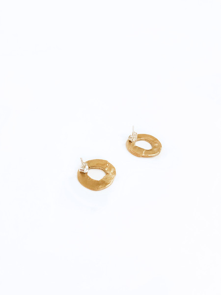 8.6.4 EA-TS-11 round earrings - Gold