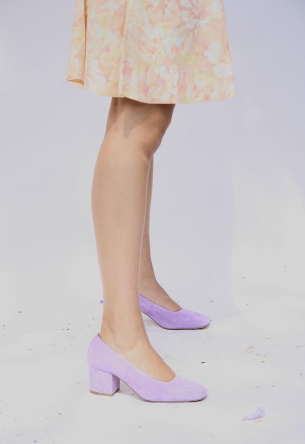 Miista Nohemi Leather Pumps - Lilac Suede