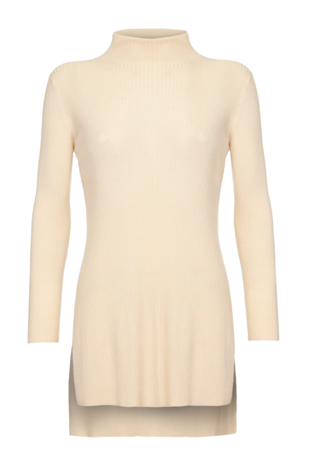 Arje Isa Merino Long Turtle Neck Sweater - Vanilla