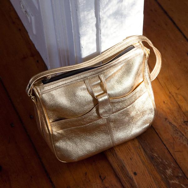 dfce804f28c Erica Tanov - Metallic Leather Shoulder Bag on Garmentory