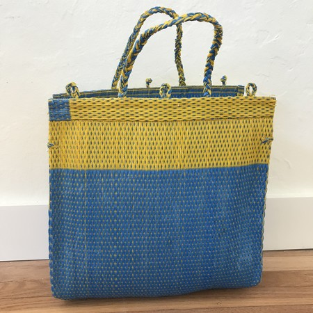 WelcomeShoppe WS Recycled Shopper - blue/yellow