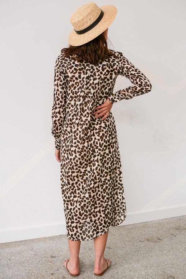 Vetiver Dance Away Shirt Dress - Leopard Print