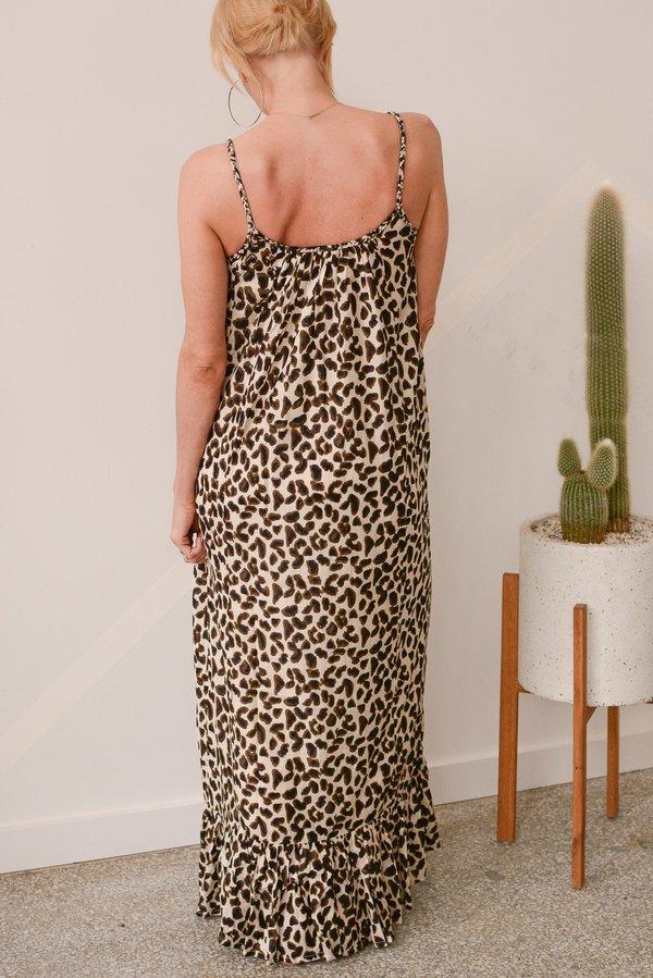 Vetiver Dance Away Sun Dress - Leopard Print