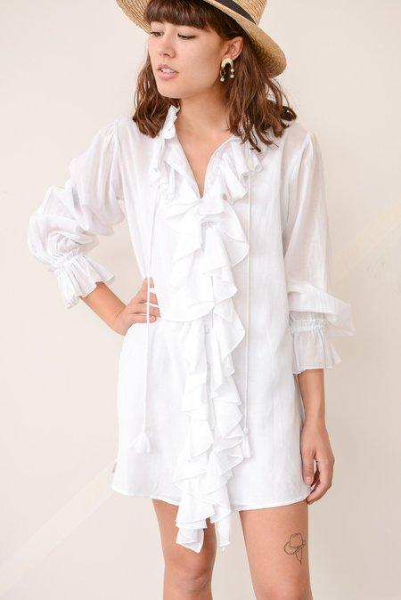 Vetiver Mystic Ruffle Dress - White