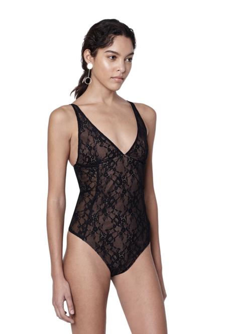 Alix NYC Classon Bodysuit - Black Lace