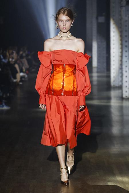 Adeam Parachute Bow Dress - Tiger Lily