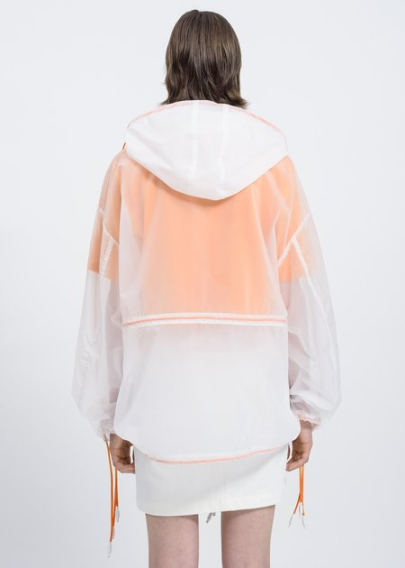 Sunnei Transparent Anorak - translucent white