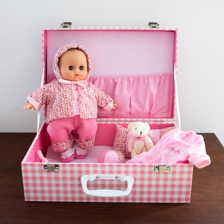 Kids Petit Collin Delia Baby Doll with Trunk Set - Pink