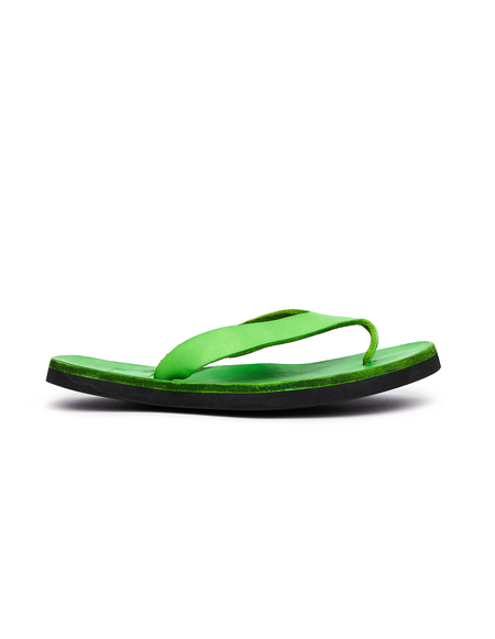 Guidi Leather Flip Flops - Green