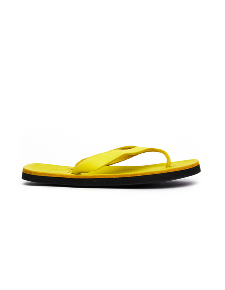 Guidi Leather Flip Flops - Yellow