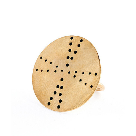 winifred grace triangle disc ring