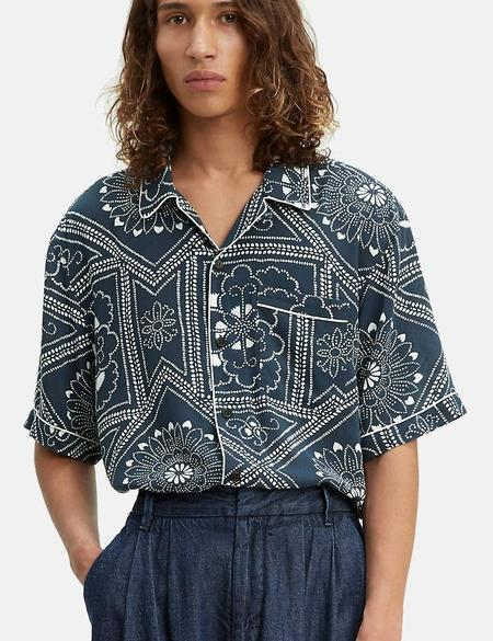 Levi's Made & Crafted Pajama Shirt - Bandana Blues/Blue