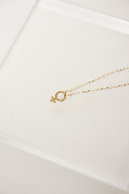 Bare & Golden Demigodess Necklace - Gold