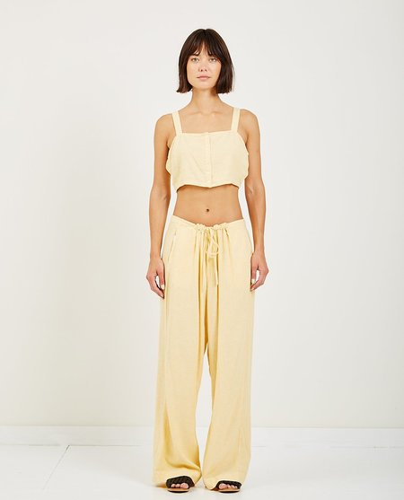 Obey MONTE CROP TOP - yellow
