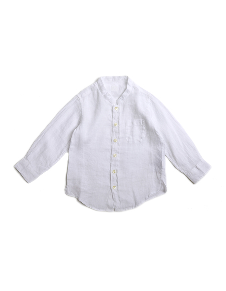 KIDS 120% Lino Linen Shirt - WHITE